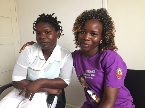 Mentor Jorgina with Marcia, Rapariga Biz in Nampula City 2017