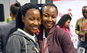 Young girls at the 2016 International AIDS Conference in South Africa ©Corrie Butler/UNFPA ESARO